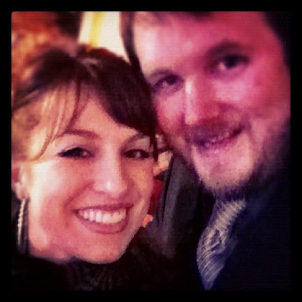 Me and my sweet hub on New Years eve :-) ...my eyelashes aren't usually so big.